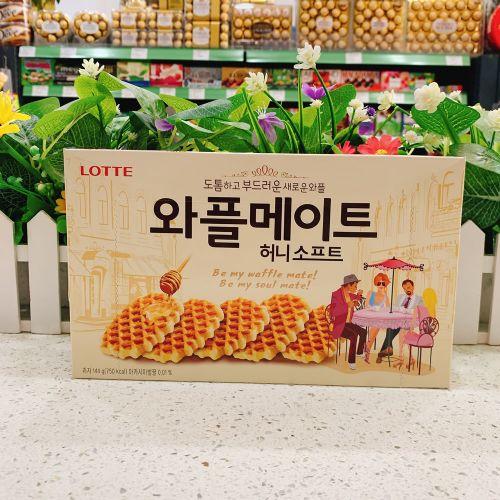 韩国乐天大格仔饼干144g