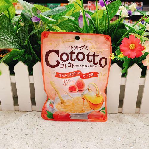 日本甘乐Cototto香桃蜜糖夹心软糖58g(袋装)