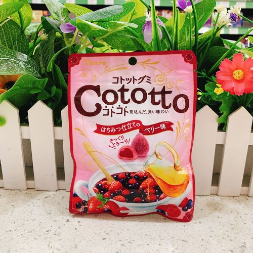 日本甘乐Cototto杂莓蜜糖夹心软糖58g(袋装)