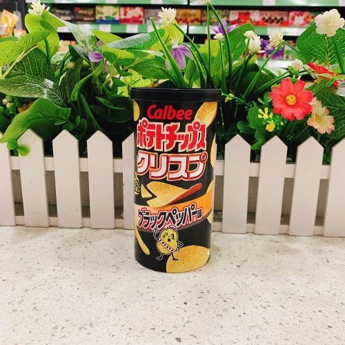 日本卡乐B 黑椒薯片50g(筒装)