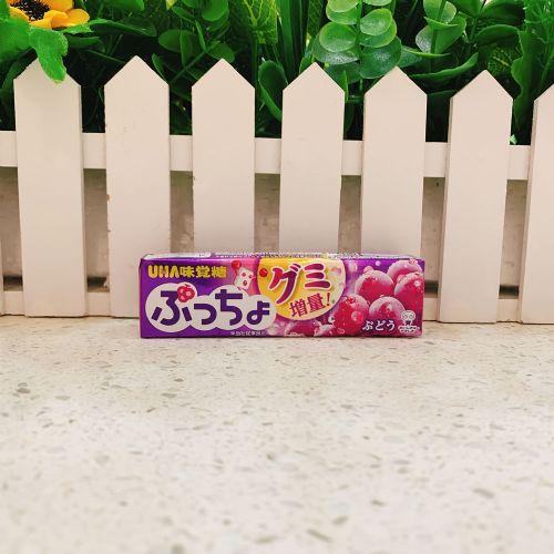日本UHA味觉糖果肉条装软糖10粒(葡萄味)