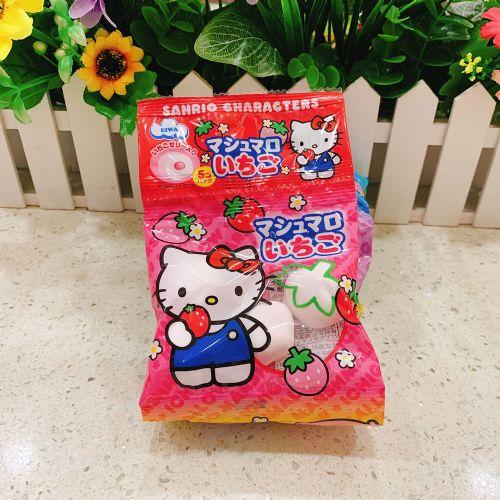 日本伊华hello kitty草莓棉花糖20个(5连袋)