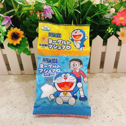 日本伊华多啦A梦乳酪味棉花糖16个(4连袋)