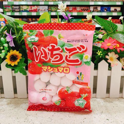 日本伊华草莓夹心棉花糖80g(袋装)