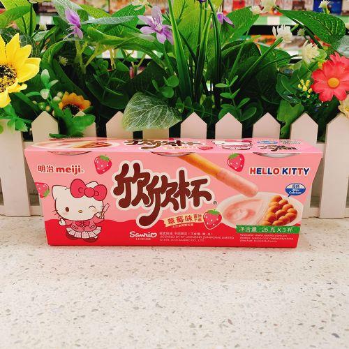 明治meiji欣欣杯草莓味 25克×3杯