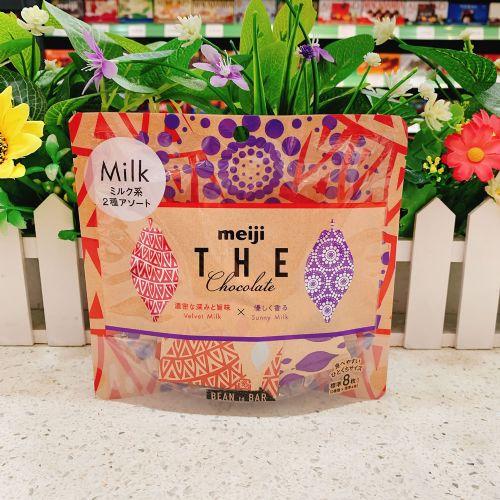 日本明治什锦牛奶巧克力8粒(袋装)