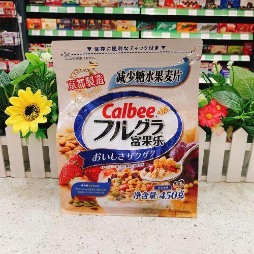日本Calbee卡乐B减少糖水果麦片450g