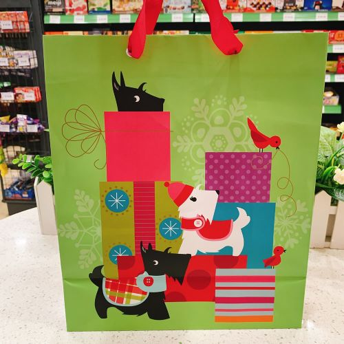 圣诞创意纸袋圣诞节可爱圣诞老人圣诞树雪人宽底礼物礼品纸袋大号