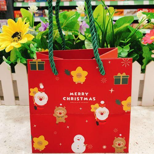 圣诞季礼品包装手拎纸袋 圣诞节儿童礼物环保纸袋 糖果手拎包装袋(小号)