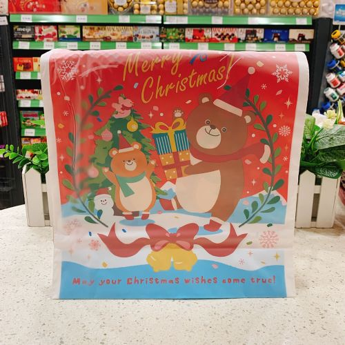 日本圣诞熊礼物抽绳袋圣诞节儿童糖果零食束口袋礼品袋收纳袋
