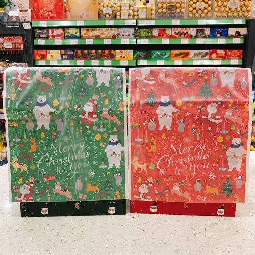 日本圣诞抽绳袋束口袋儿童糖果礼品礼物公仔收纳塑胶袋包装袋