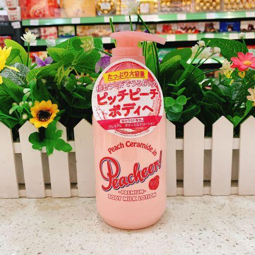 日本Pelican沛丽康桃子身体乳保湿滋润500ml水蜜桃味
