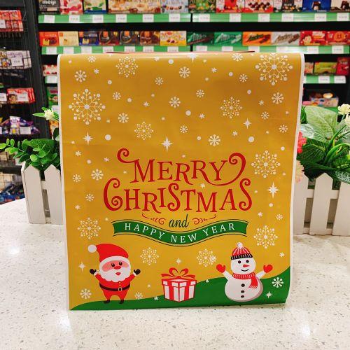 金色圣诞节包装袋礼物袋(大号)