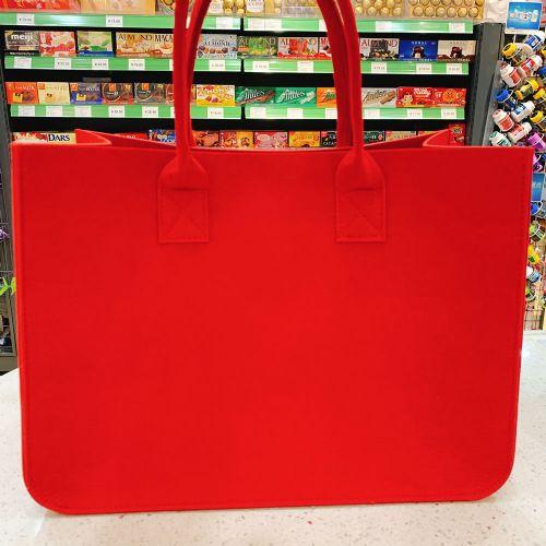 红色手提包毛毡袋手提零食袋