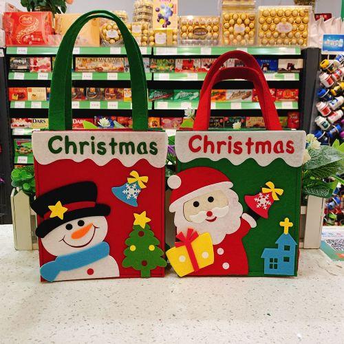 手提圣诞礼物袋