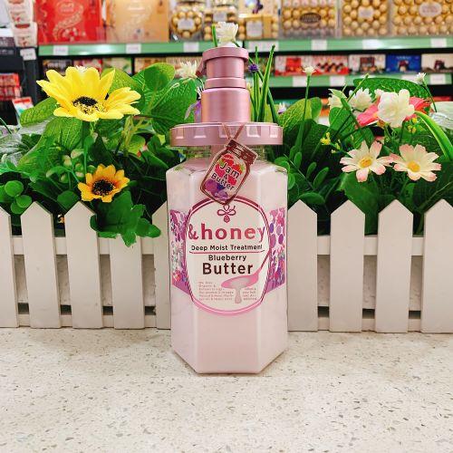 日本限定版&Honey无硅油保湿滋润防脱修复护发素440ml(杂莓香味)