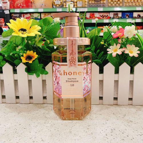 日本限定版&Honey无硅油保湿滋润防脱修复洗发水440ml(樱花香味)