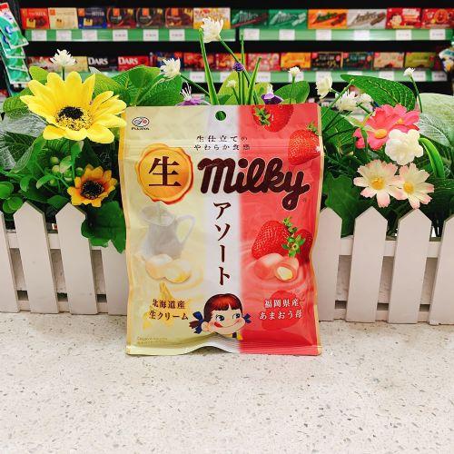 不二家北海道炼奶草莓糖64g