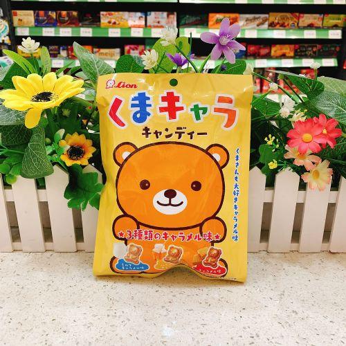 日本狮王三味焦糖熊仔糖72g(袋装)