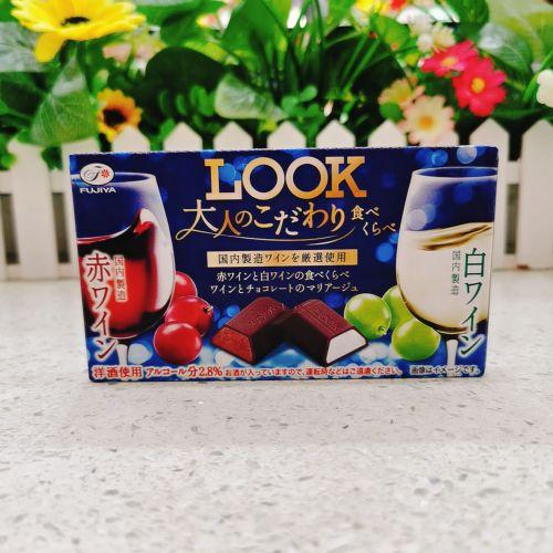 日本不二家LOOK红酒白酒夹心朱古力12粒(盒装)