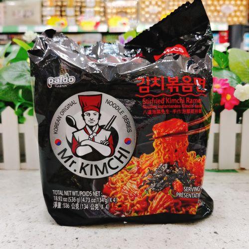 韩国PALDO泡菜先生即食捞面134g×4包