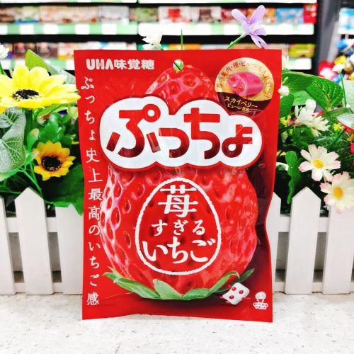 日本UHA味觉糖史上最浓草莓味83g