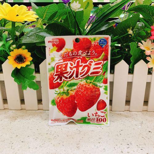 日本明治胶原蛋白草莓果汁软糖51g(袋装)