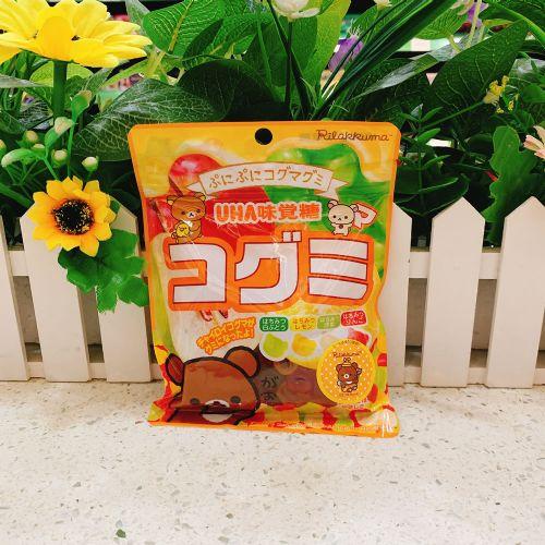 日本味觉�弛熊贴纸四味果汁软糖85g(袋装)