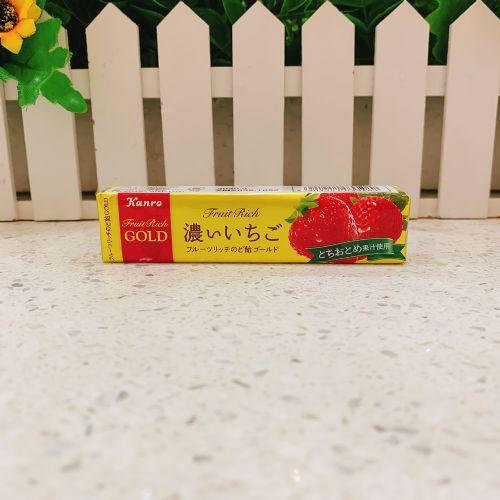 日本甘乐特浓草莓润喉糖11粒(条装)