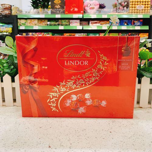 瑞士莲软心球牛奶香滑巧克力礼盒装168克14粒(红色)
