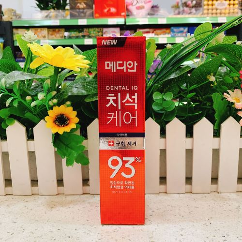 韩国爱茉莉93牙膏红色清新口气