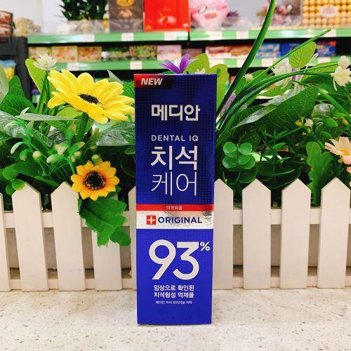 韩国爱茉莉93牙膏蓝色防止牙石