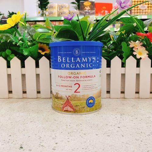 澳洲Bellamys贝拉米2段有机婴儿牛奶粉300g(6-12个月)