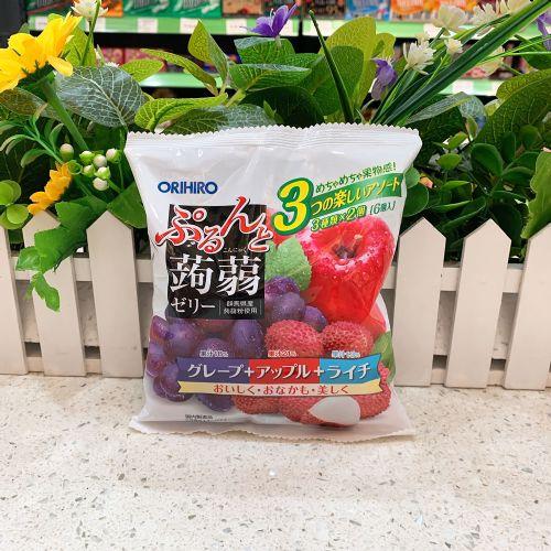日本orihiro�X�m三拼苹果荔枝葡萄6个(袋装)