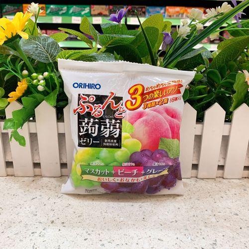日本orihiro�X�m三拼香桃青提葡萄6个(袋装)