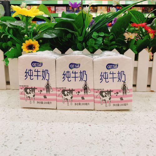 太慕脱脂纯牛奶200ML×6