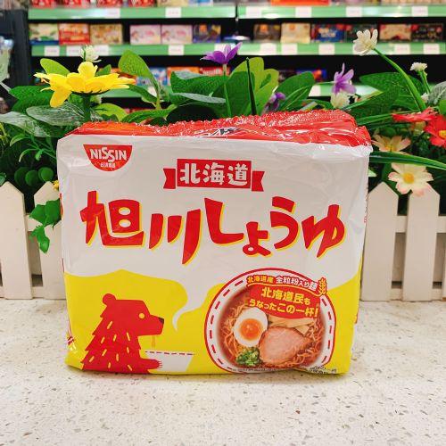日本日清北海道旭川酱油味拉面89g×5包