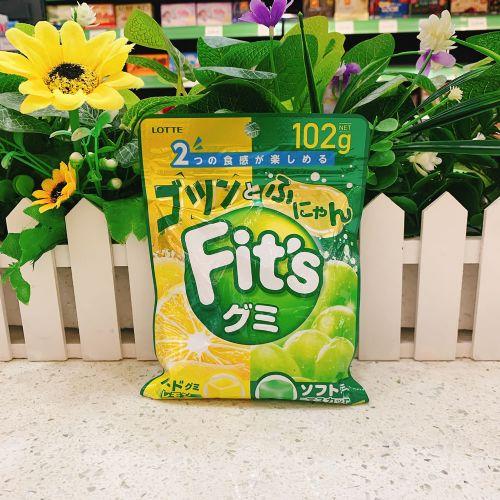 日本乐天Fits柠檬青提子软糖102g(袋装)