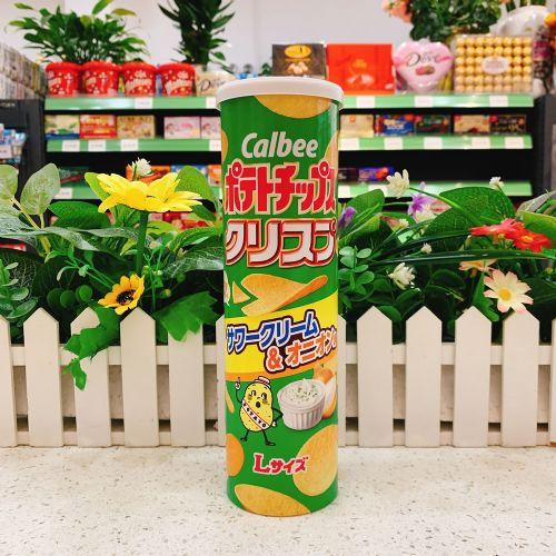 日本卡乐B 酸忌廉洋葱薯片115g(长筒装)