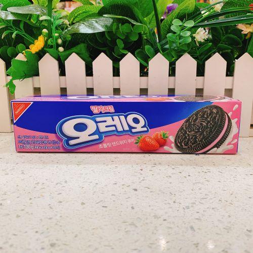 韩国奥利奥夹心饼干(草莓味)100g