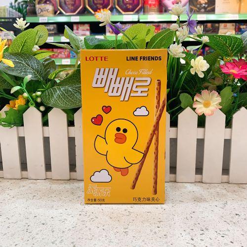 韩国乐天派派乐巧克力味夹心饼干棒50g