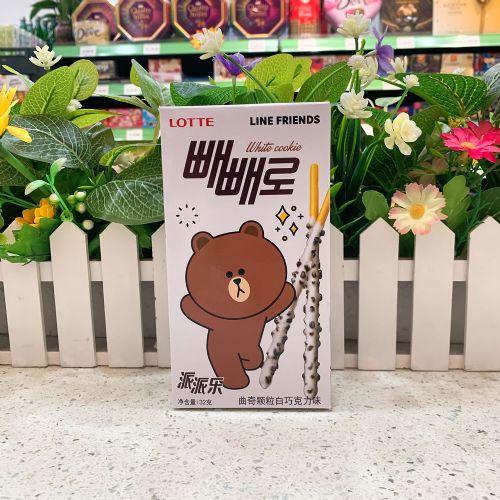 韩国乐天曲奇颗粒白朱古力百利滋饼干32g