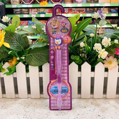 韩国啵乐乐儿童软毛牙刷(紫色)
