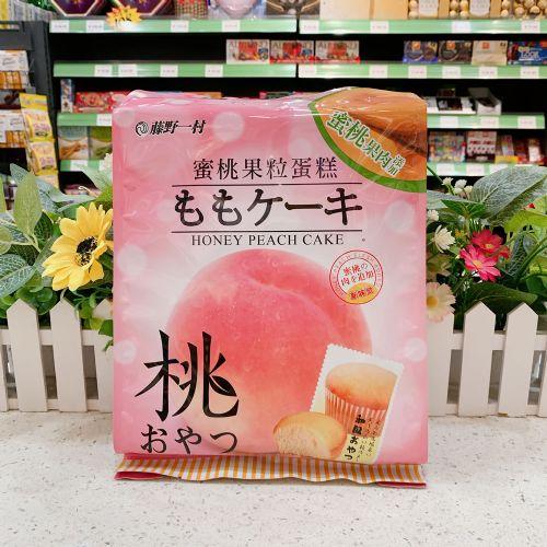 藤野一村蜜桃果粒蛋糕(蜜桃味)180g