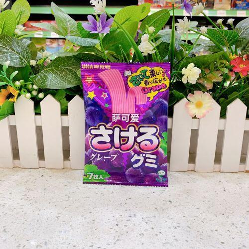 日本UHA味觉糖葡萄味条状软糖4.7g×7枚