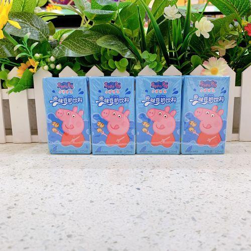 小猪佩奇原味豆奶125ml×4盒