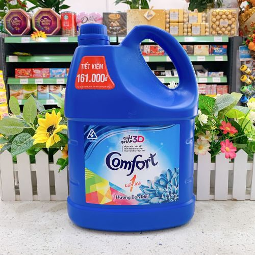 越南金纺超浓缩衣物柔顺剂3.8L(深蓝色)
