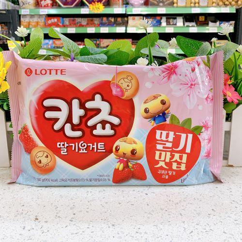 韩国乐天草莓味酸奶味小小饼干180g