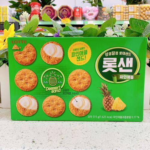 韩国乐天菠萝夹心饼干315g