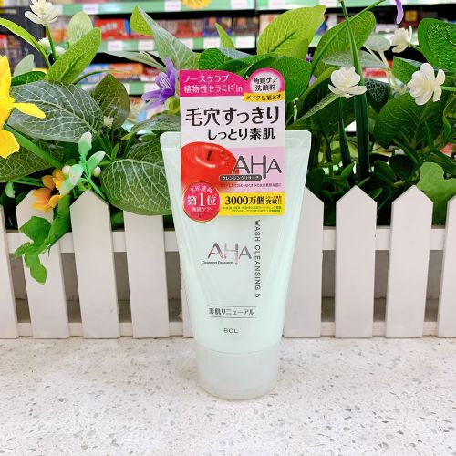 日本BCL AHA果酸苹果酵素洗面奶(去油去黑头)120g 白盖 适合干性皮肤